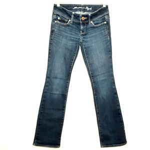 AMERICAN EAGLE womens jeans size 00 blue slim boot